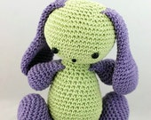 Amigurumi Little Bunny, Green/Purple