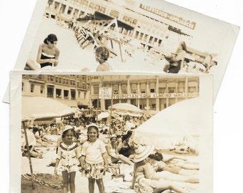 Pair of Beach Snapshots, c. 1950