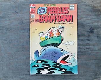 Pebbles and Bamm-Bamm, Vintage Comic Book, Hanna-Barbera Magazine, Pebbles and Bamm-Bamm Volume 2, No 16, 1973, Pebbles and Bambam