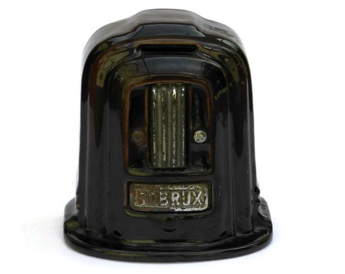 Art Deco Enamel Money Bank. Fobrux Cast Iron Art Deco Woodburner Stove Coin Bank.