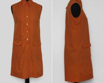 1960s-1970s A-line Amber Shirt Dress