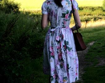 Vintage 1980s floral dress