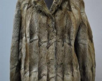 Vintage MINK FUR JACKET , fur jacket , short fur jacket ...(019)