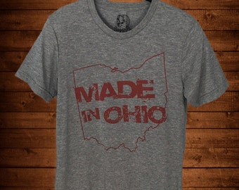 Made In Ohio Gray Crew T-Shirt