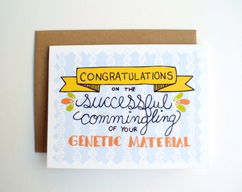 Baby Shower Card Congratulations DNA Funny