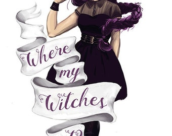 Where My Witches At Sticker, Witch Sticker, Witches Sticker, Custom Sticker, Halloween Sticker