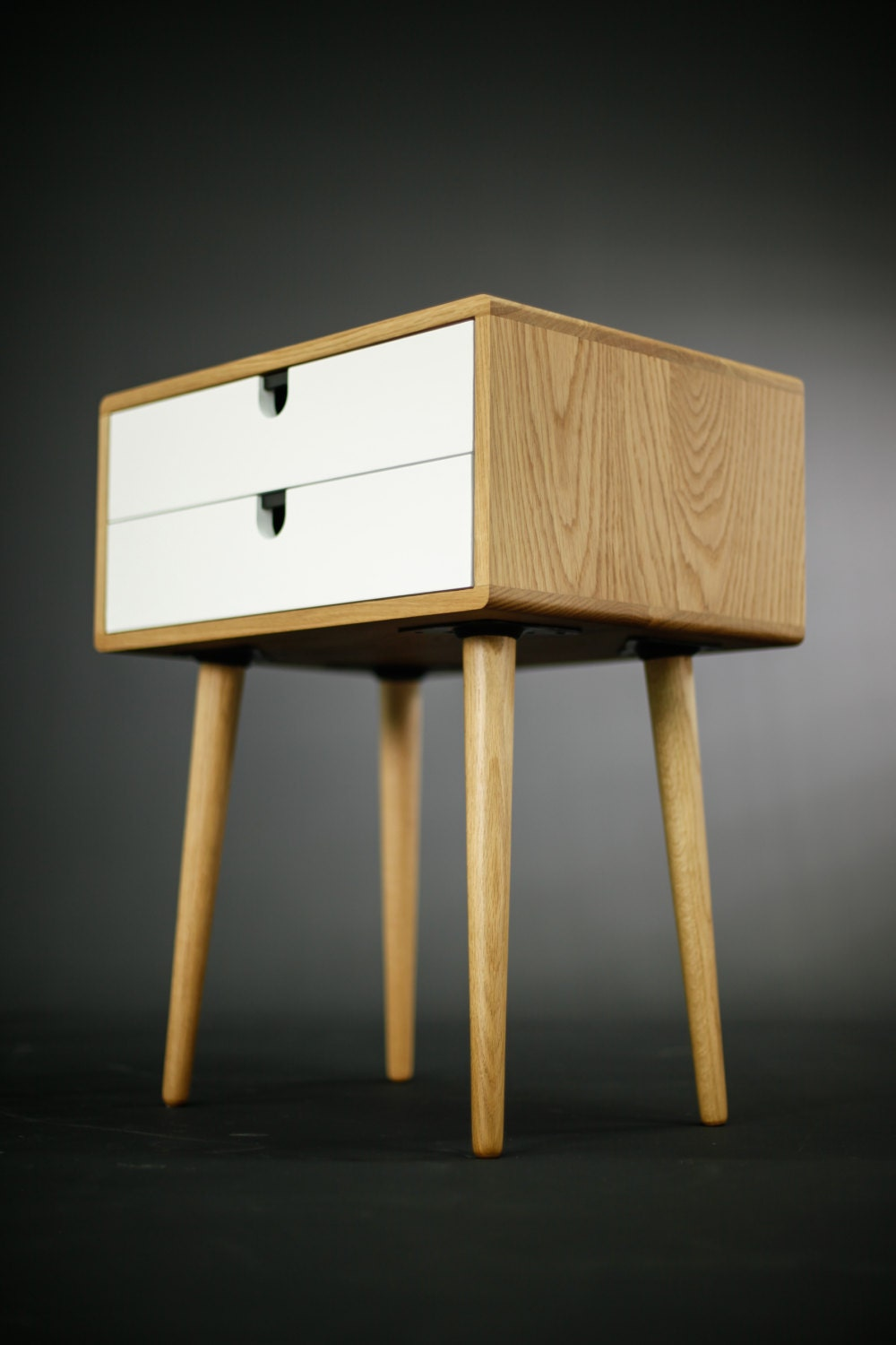White Nightstand With One Drawer