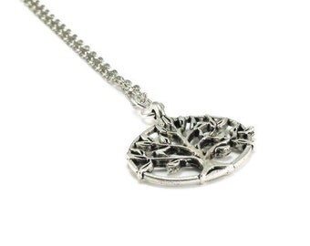 Tree of Life Necklace Silver Chain