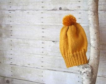 SUMMER SALE - The Ashland Knitted Beanie - Mustard