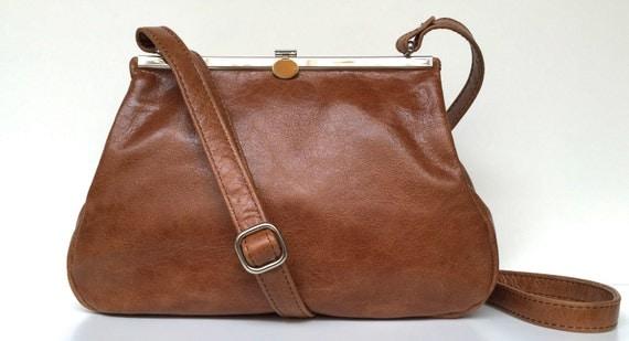 Leather bag , leather handbag , ladies bag, leather handbag brown , leather bag with strap , handbag