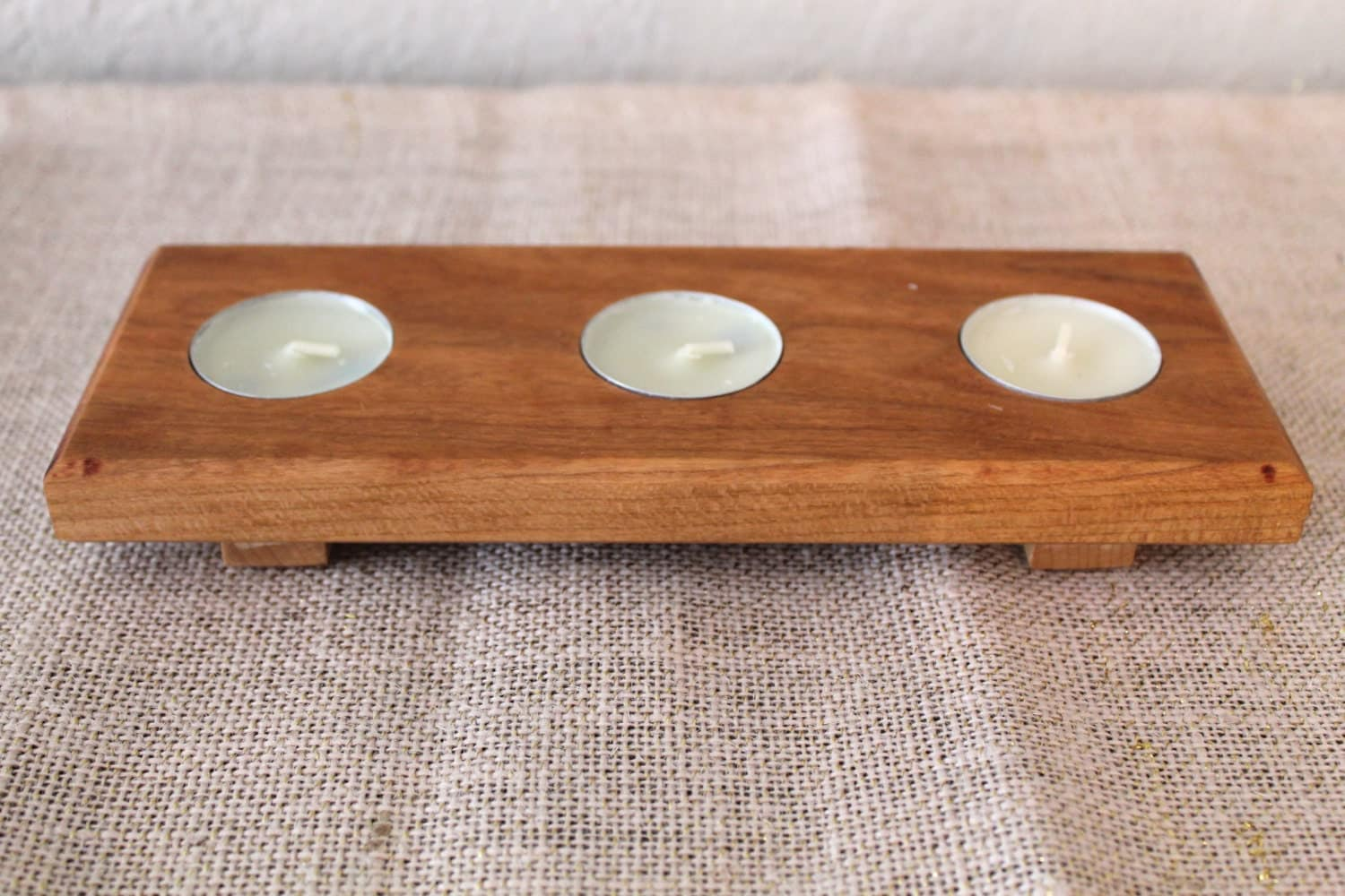 Wooden Tea Light Holder Candle Holder By Partyandhomedesign