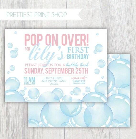 Printable bubbles birthday invitation bubbly bash pop on over il570xn filmwisefo