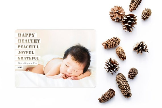 Holiday Photo Card - Personalized to match your unique photo - Free customization