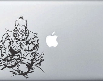 Street Fighter Akuma Laptop/Window Vinyl Sticker