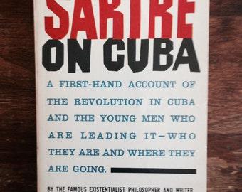 Sartre on Cuba rare vintage 1960s paperback philosophy