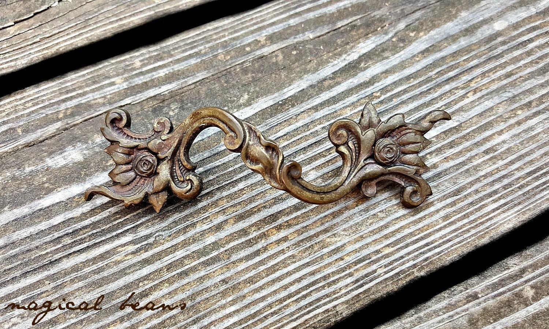 Rustic Drawer Pulls Brass Drawer Pulls Farmhouse Vintage