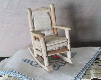 Handmade Dolls Rocking Chair Mini Wooden Chair Rocking Chair Mini Wood Handmade