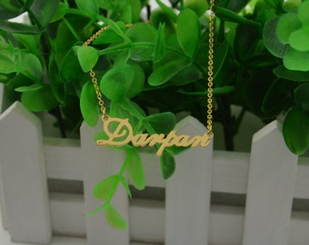 Name necklace,custom gold name necklace,nameplate necklace,personalized name,name on chain,necklace with name