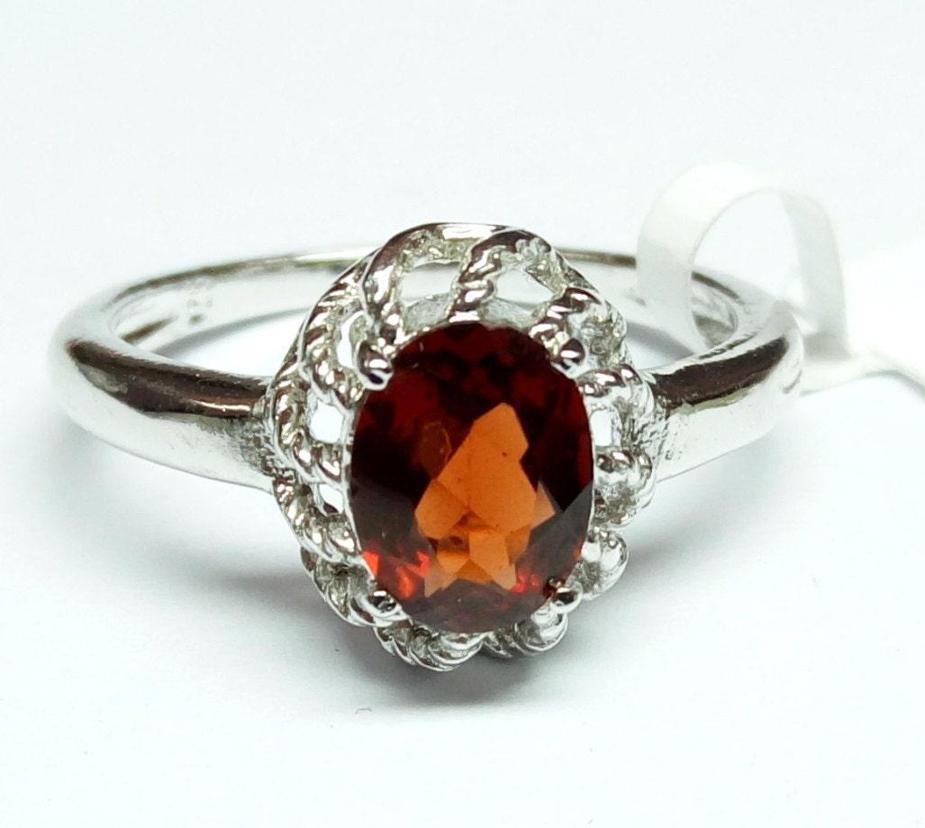 ring 925 sterling silver ring jewelry garnet gemstone