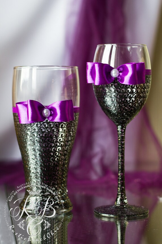 Wedding Gift Glasses Suggestions : ... glasses and beer glasses, bridal party, personalized, gift ideas from