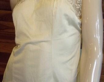Vintage Lingerie 1980s RICHFORM Beige Size Medium Camisole