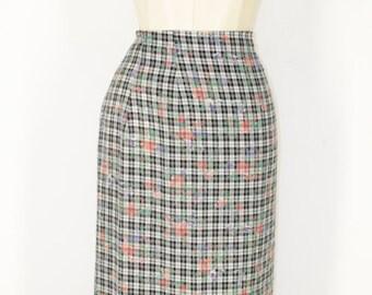 Gingham skirt sarong 90's (S / M)