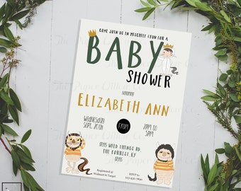 the wild things are baby shower diy printable invitation baby shower