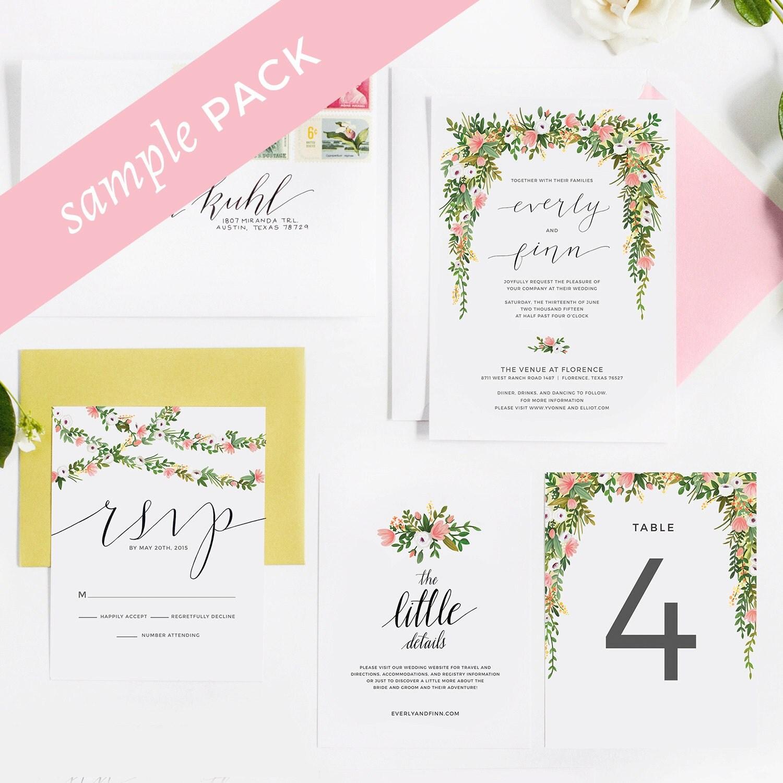 Elizabeth Collection Wedding Invitation Sample Kit