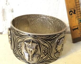 Vintage Chunky Egyptian Revival Bracelet