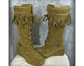 Leather boots, Women's brown boots, Fringe Boots, Indian boots, Stylish leather boot's, Size 6m shoes, Western boots