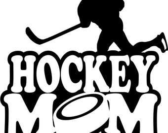 Hockey Mom Hoodie/ Hockey Mom Sweatshirt/ Hockey Mom Clothing/ Hockey Mom Gift/ Hockey Mom/ Hockey/ Girl Player Hockey Mom Hoodie Sweatshirt