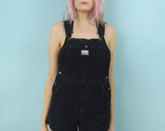 90s Corduroy Cut-Off Overall Shorts Size Small or XS