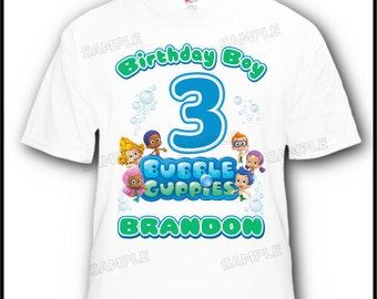Personalized Bubble Guppies Birthday Boy Girl T-Shirt Design #2