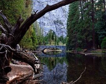 Yosemite Stoneman Bridge - Yosemite National Park Landscape Mountains Forest Nature Photography Print