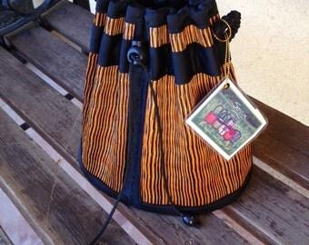 Tatami Straw Bucket Purse, Orange and Black Straw Purse, Straw Bucket Bag, Straw Bucket Clutch, Orange Straw Purse Medium, Tatami Clutch