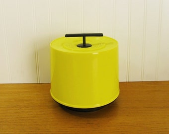Vintage Bright Yellow Tote 45 Record Holder 45 Record Case 45 Record Carrier Mod Record Holder Vinyl Record Storage 45 RPM Holder Hartzell