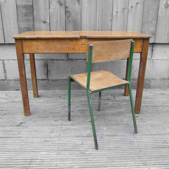 Vintage Double School Desk NOT INCLUDING CHAIRS