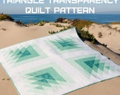 Triangle Transparency Quilt Pattern by Quilting Jetgirl