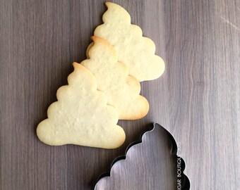 Emoji Poop Cookie Cutter   Kawaii Poop cutter   Fondant Cutter   NO RUST CUTTERS   Dishwasher safe   Manga Poop cookie cutter -C22