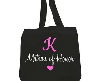 Monogram matron of honor,monogram matron of honor tote,monogram matron of honor gift,initial maid of honor gift,personalized matron of honor