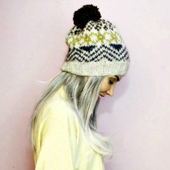 PDF Knitting Pattern Nordic Icelandic Wool Hat Pattern
