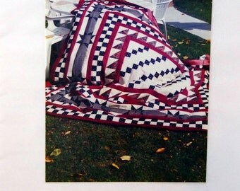 Four Patch Medallion By Quilt Factory Publications Vintage Quilt Pattern Packet 1995
