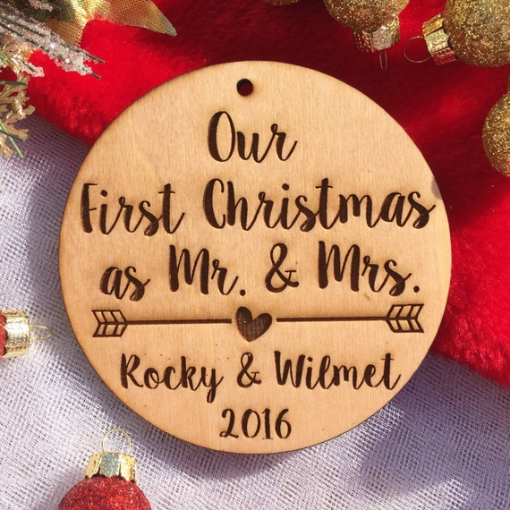 Our First Christmas as Mr. and Mrs. Ornament Personalized