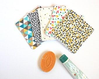 Mix Cottons Polka Dots Scandinavian Design Washable Reusable Cottons- Zero Waste Home