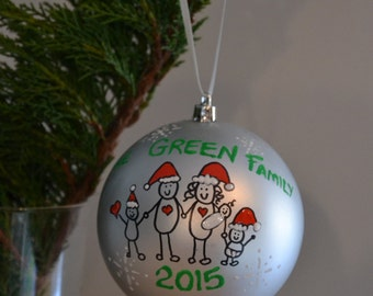 Personalized Christmas Family Ornament - Great for Families, Couples and Friends