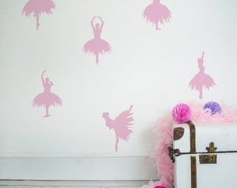 Wall Sticker Ballerinas-Wall Decal-Bedroom Wall Sticker-Ballerina Wall Decal-Home Decor-Girls Bedroom Decal-Dancer Decal-Gift for Ballerinas