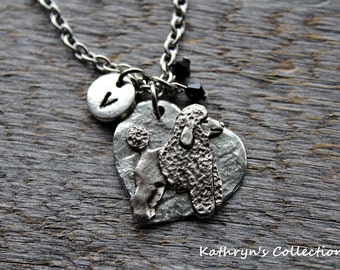 Poodle Necklace, Poodle Jewelry, Poodle Gift, Standard Poodle, Miniature Poodle, Gift for Poodle Lover, Dog Lover Gift