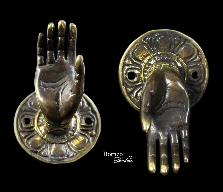 brass buddha hand statue 2abhaya mudra gesture of. Black Bedroom Furniture Sets. Home Design Ideas