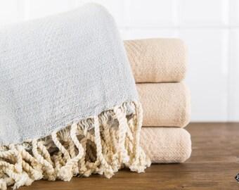 Linen Turkish Towel, Grey, Bath Towel, Peshtemal, Cotton Bath Towel, Cotton Beach Towel