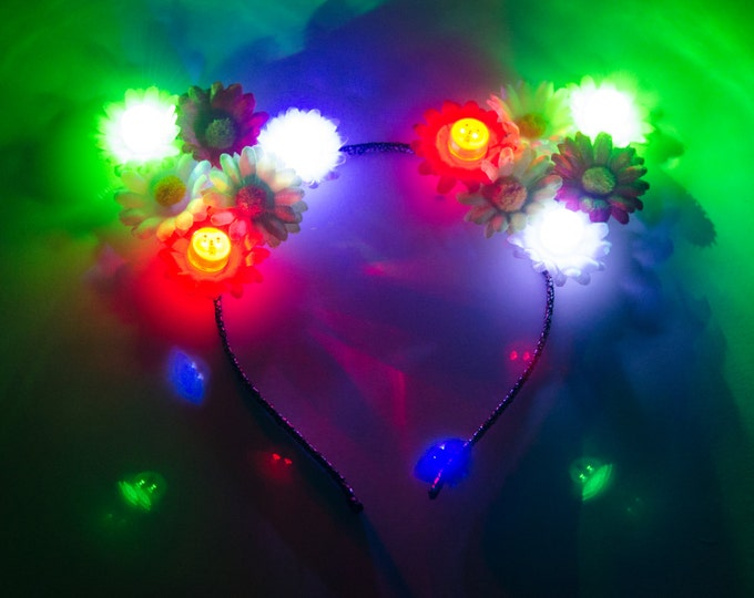 Cinco de Mayo LED Cat Ear Headband